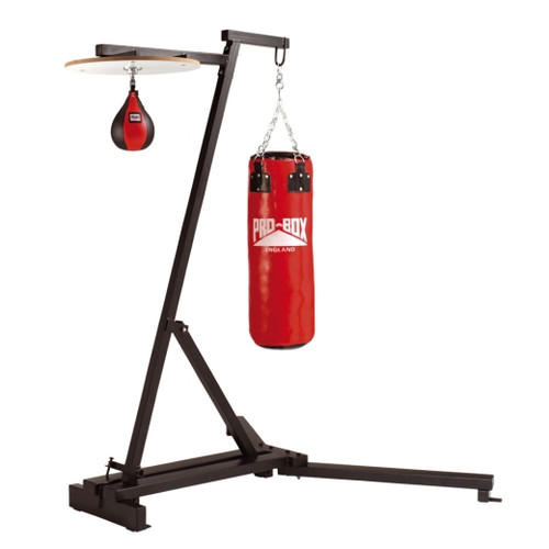 PB H/DUTY FREE STANDING FRAME w/ SPEEDBALL & PUNCH BAG