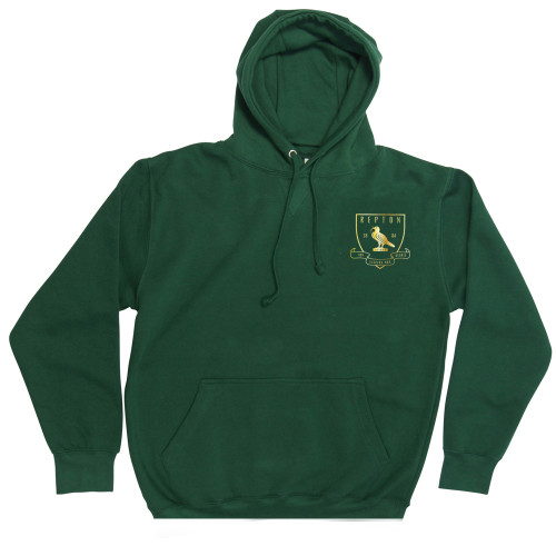 REPTON JUNIOR HOODED SWEATSHIRT WITH EMBROIDERED BADGE