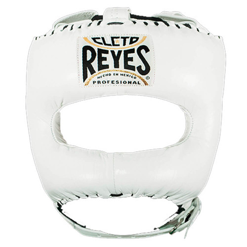 CLETO REYES HEADGUARD WITH NYLON POINTED BAR WHITE