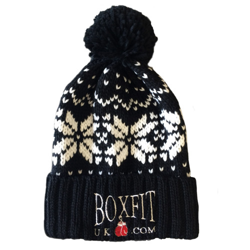 BOXFIT PATTERNED BOBBLE HAT