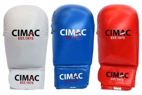 CIMAC COMPETITION KARATE MITTS WITHOUT THUMB