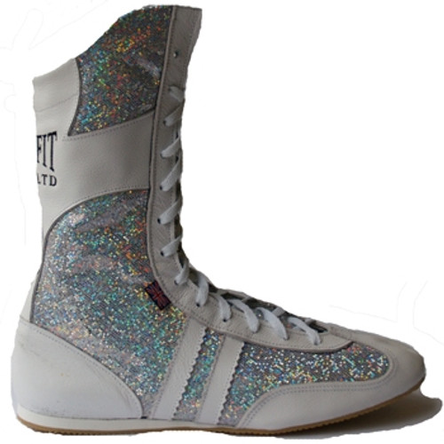 JUNIOR SPARKLE LEATHER HI-TOP BOXING BOOTS
