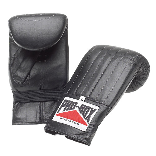 PRO BOX BLACK PRE-SHAPED LEATHER BAG MITT