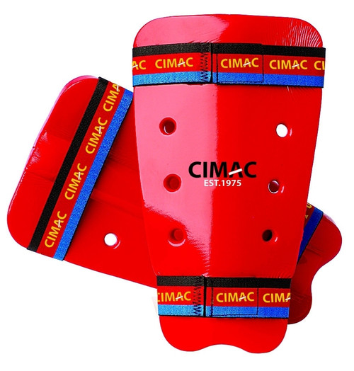 CIMAC DIPPED FOAM SHIN GUARDS - RED