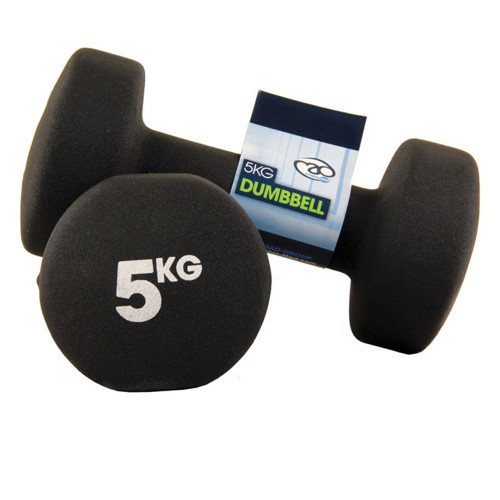5KG NEOPRENE DUMBBELLS - PAIR