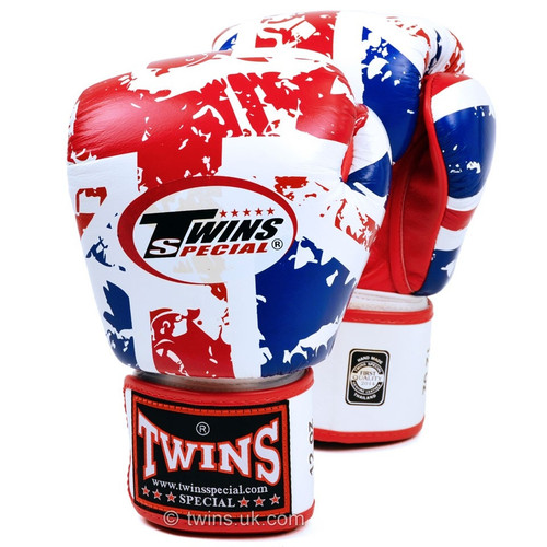 TWINS UK HOOK & LOOP BOXING GLOVES