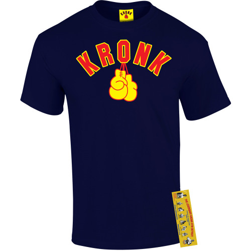 KRONK GLOVES TEE NAVY SHIRT