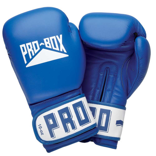 PRO BOX ESSENTIAL LEATHER GLOVE: BLUE