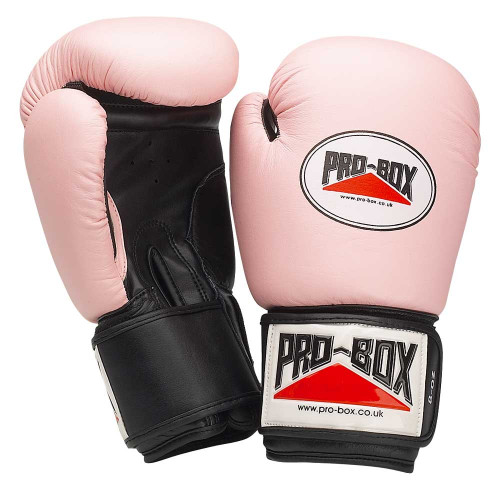 PRO BOX LADIES LEATHER TRAINING GLOVES PINK
