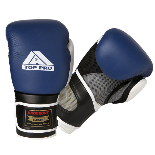 TOP PRO KNOCKOUT LEATHER BOXING GLOVES
