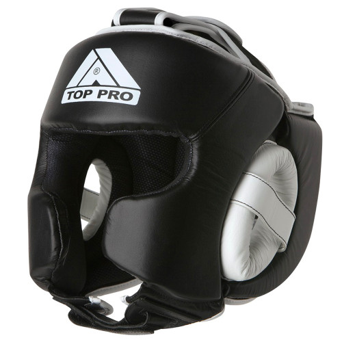 TOP PRO LEATHER PRO 360 SPARRING HEADGUARD