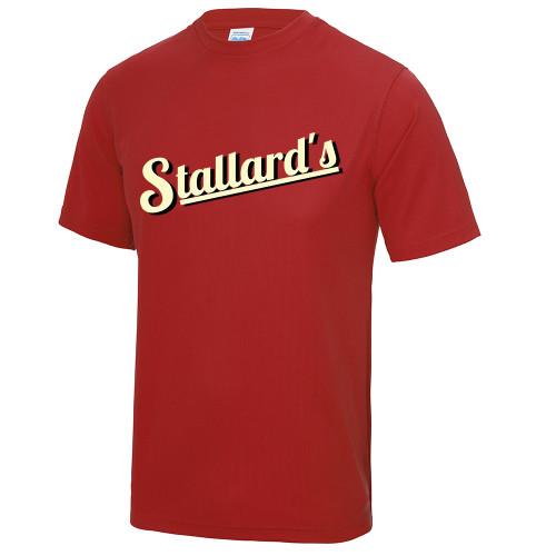 STALLARDS GYM RED POLY TEE