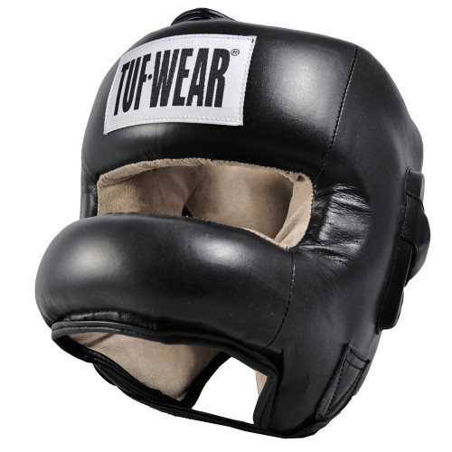 TUF WEAR LEATHER HEADGEAR FULL NOSE PROTECTION