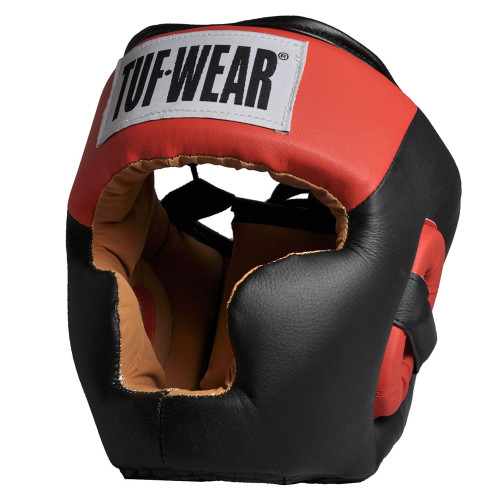 TUF WEAR IMITATION LEATHER HEADGEAR FULL FACE WITH CHIN