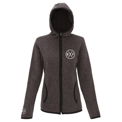 BXF WOMENS MELANGE KNIT FLEECE JACKET