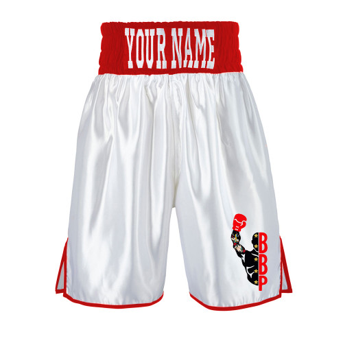 BRENTS BOXING PETERBORO WHITE BOXING SHORTS