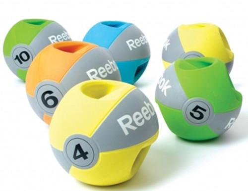 REEBOK RUBBER DOUBLE GRIP MEDICINE BALLS