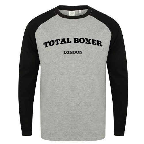 TOTAL BOXER LONDON LONG SLEEVE BASEBALL T-SHIRT