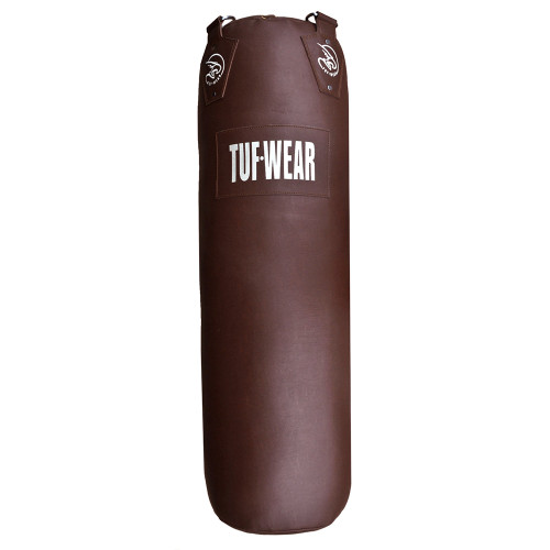 TUF WEAR LEATHER LOOK CLASSIC BROWN 4FT PUNCH BAG