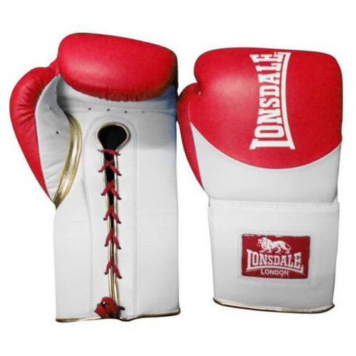 LONSDALE L60 LEATHER LACE UP TRAINING GLOVES