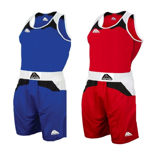 TOP PRO JUNIOR BOXING VEST & SHORT SET