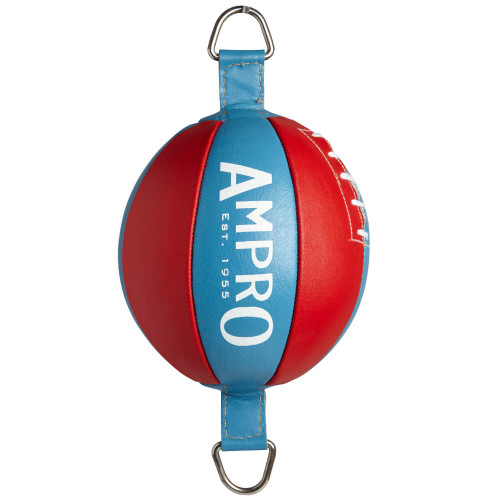 "AMPRO 8"" LEATHER DOUBLE END PUNCH BALL"