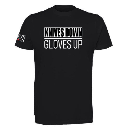 KNIVES DOWN GLOVES UP T-SHIRT