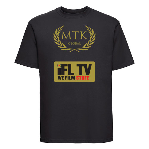 IFL TV BLACK T-SHIRT GOLD SPARKLE LOGO