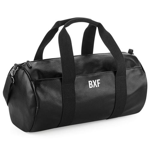 BXF FAUX LEATHER BARREL BAG