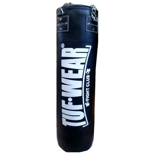 TUF WEAR 4FT HEAVY DUTY SYNTHETIC LEATHER PUNCHBAG W/ CHAINS