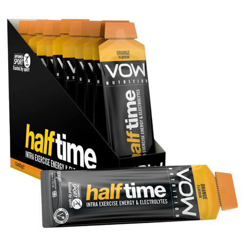 VOW NUTRITION HALF TIME X 12 SACHETS - INTRA EXERCISE ENERGY + HYDRATION