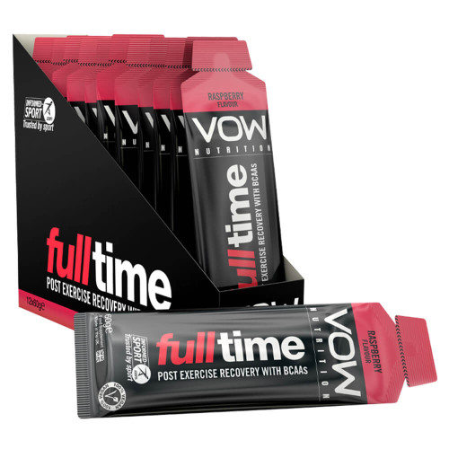 VOW NUTRITION FULL TIME X 12 SACHETS - RECOVERY BCAAS + ENERGY
