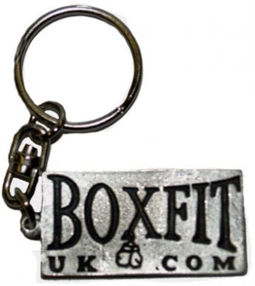 BOXFIT UK PEWTER LOGO KEYRING