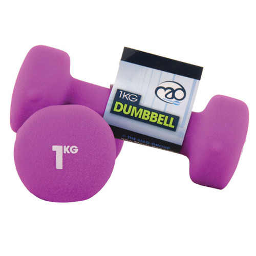 1KG NEOPRENE DUMBBELLS - PAIR