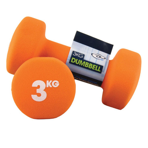 3KG NEOPRENE DUMBBELLS - PAIR