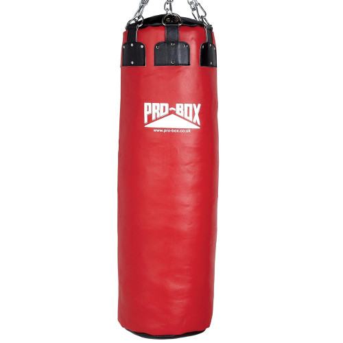 PRO BOX RED COLOSSUS LEATHER PUNCH BAG