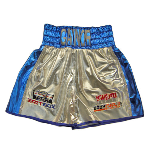CUSTOM MADE TWO COLOUR WETLOOK BOXING SHORTS