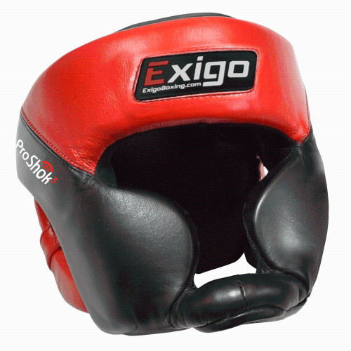 EXIGO PRO HEAD GUARD FULL FACE: Black/Red: Small/Medium