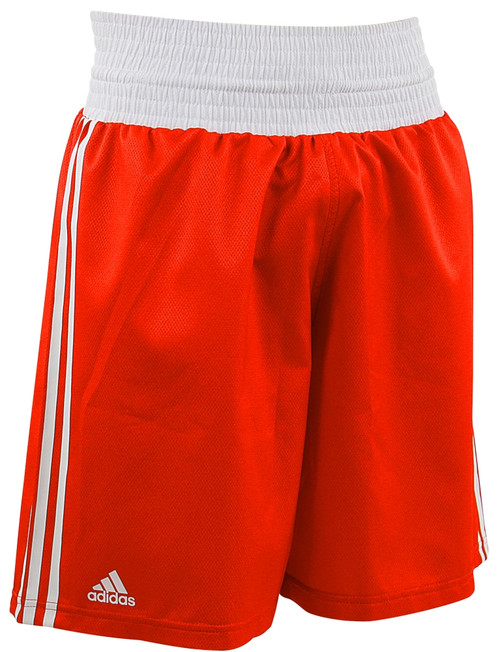 ADIDAS DIAMOND FLEX BOXING SHORTS: Red: XXSmall