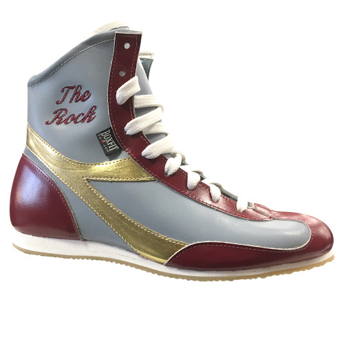 BOXFIT CUSTOM CLARET & BLUE LEATHER BOOTS