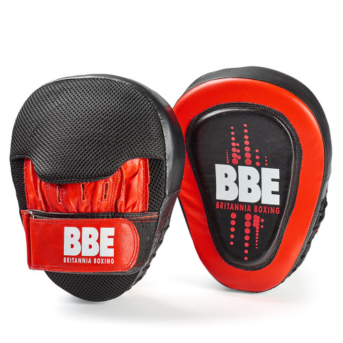 BBE CLUB LEATHER CURVED HOOK AND JAB PADS