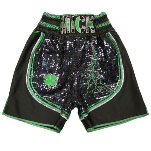 CUSTOM MADE SPARKLE AND SATIN BOXING SHORTS
