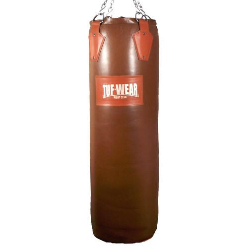 Tuf Wear Gigantor Classic Brown Hide Leather Punchbag 140CM