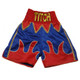 CUSTOM MADE SATIN FLAME BOXING SHORTS