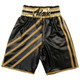 CUSTOM MADE WETLOOK ANGLED STRIPED BOXING SHORTS