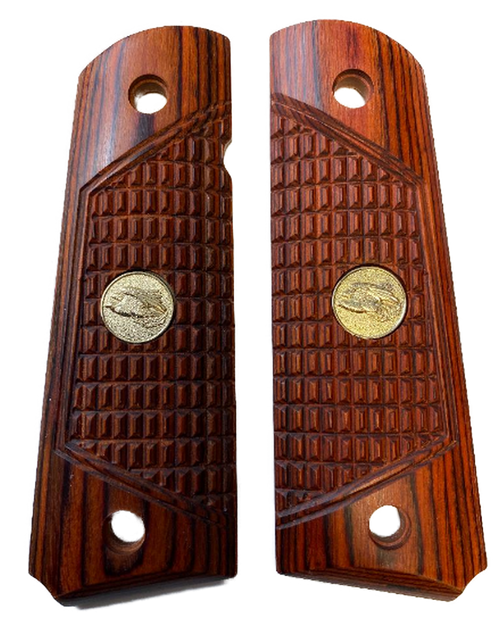 1911 Full Size Outback Rosewood Grips w/Eagle Medallions