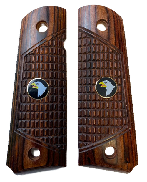 1911 Full Size Outback Rosewood Grips w/Screaming Eagle Medallions
