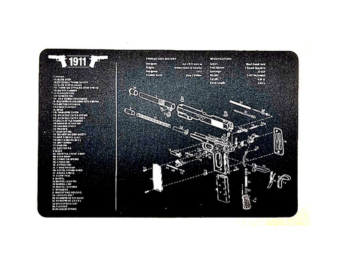 "Gunsmith & Armorer's Cleaning Work Tool Bench 11"" x 17"" Gun Mat For 1911 Pistol Handgun"