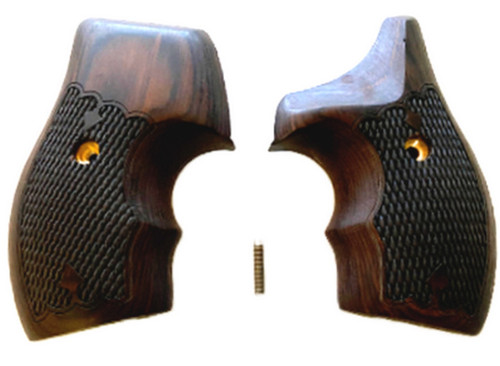 Unique Rosewood J Frame Round Butt Wrap Around Grips