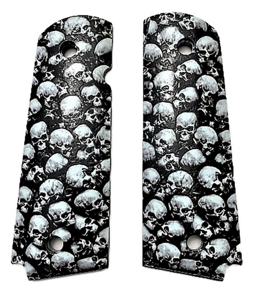 1911 Full size UV Printed Skulls fit Colt Gov and Clones Rock Island